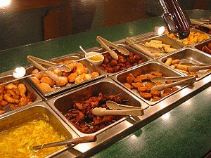 A Chinese buffet restaurant in the U.S.