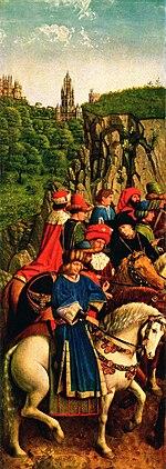 De Rechtvaardige Rechters door de gebroeders Jan en Hubert van Eyck.jpg
