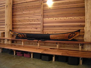 Canoe, Duwamish Longhouse and Cultural Center,...