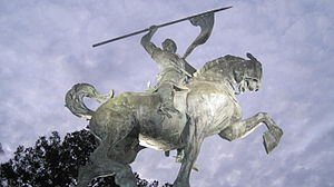 The statue of El Cid by Anna Hyatt Huntington ...