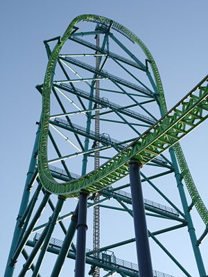 Closeup of Kingda Ka's tower