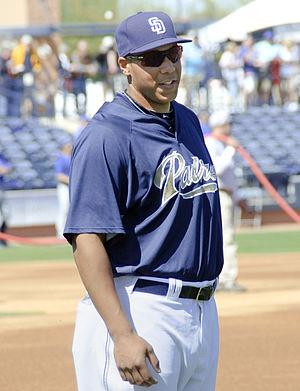 English: Kyle Blanks in 2010 spring training.