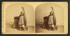 Lady with long hair, by E. T. Brigham