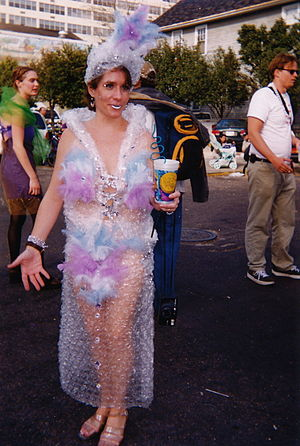 New Orleans, Mardi Gras Day 1999. Costumed rev...