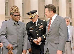U.S. Secretary of Defense Caspar W. Weinberger...