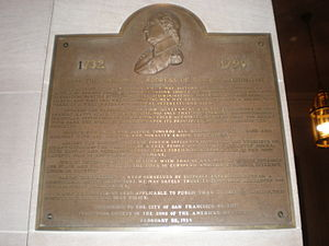 A plaque of excerpts from George Washington's ...