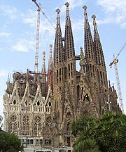 Gaudi's unfinished masterpiece, Sagrada Familia