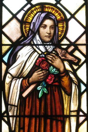 File:Saint Peter Catholic Church (Millersburg, Ohio) - stained glass, St. Thérèse de Lisieux - detail.jpg