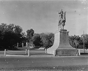 Sudan. Khartoum. Bronze monument of General Go...