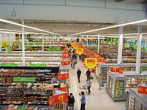 English: The interior of ASDA in Keighley, Wes...