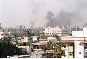 The skyline of Ahmedabad filled with smoke as ...