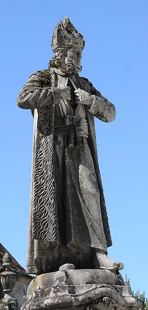 Statue of Caiaphas in Bom Jesus, Braga, Portugal