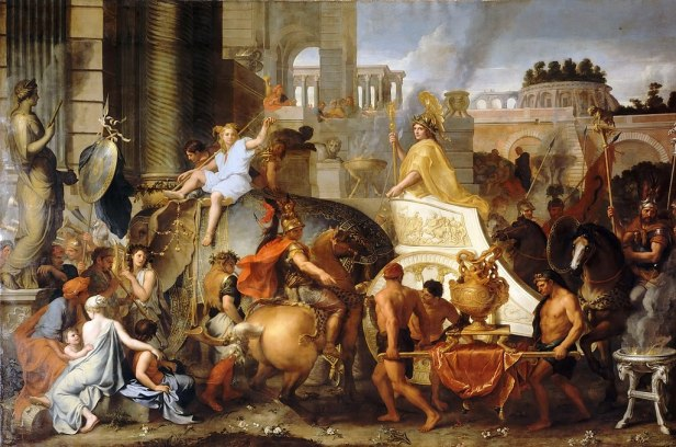 Entry of Alexander into Babylon - The Triumph of Alexander by Charles Le Brun