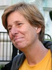 Cindy Sheehan being interviewed by a foreign j...