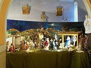 English: Native scene in Saumane's church (Alp...