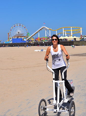 English: The bike paths in Santa Monica and Ve...