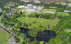 Gleneagles Hotel, Perthshire. Tourism is one o...