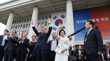 Inauguration of Moon Jae-in, May 10, 2017.