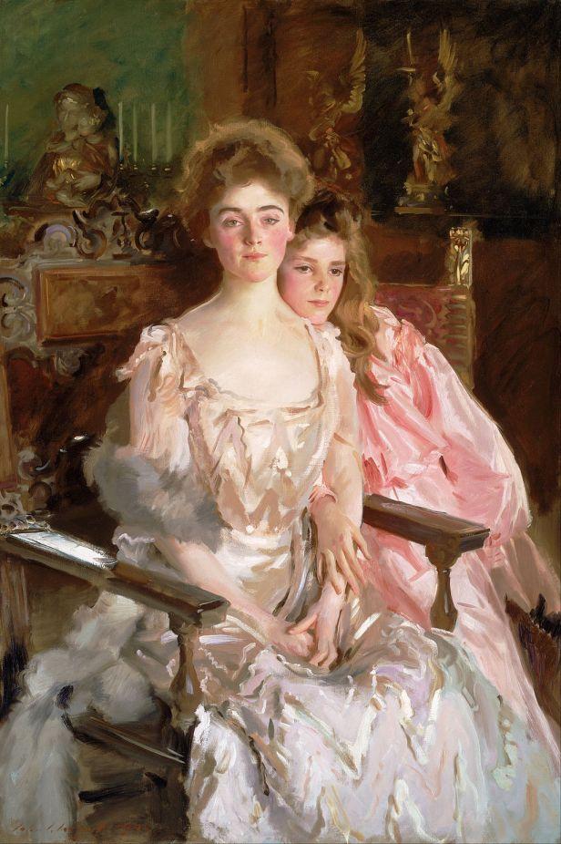 """""""Mrs Fiske Warren and Her Daughter Rachel"""" by John Singer Sargent"""