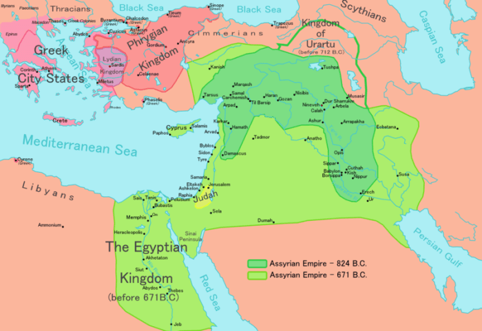 Map,Assyria, Empire