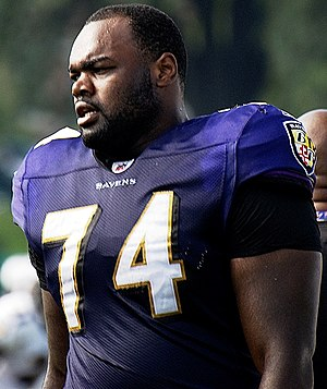Baltimore Ravens offensive tackle Michael Oher...
