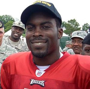 Philadelphia Eagles quarterback Michael Vick a...