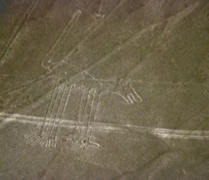 The Nazca line figure known as The Dog