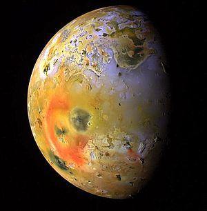 Galileo image showing a dark spot (interruptin...