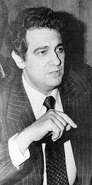 English: Spanish singer Placido Domingo Españo...