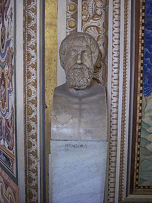 Bust of Pythagoras at the Vatican Museum, in R...