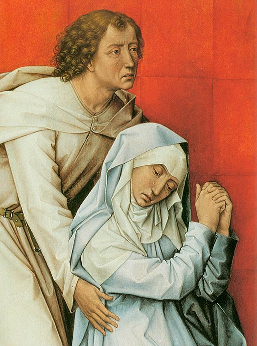 Rogier van der Weyden - Crucifixion Diptych (detail of the left panel) - WGA25678