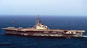 The Brazilian aircraft carrier Saõ Paulo (A12)...