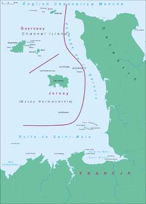 Map of Channel Islands