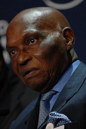 Deutsch: Abdoulaye Wade, Präsident des Senegal...