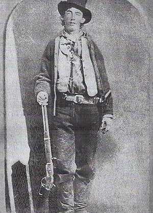 Billy the Kid (1860 – 1881). Image mirro...