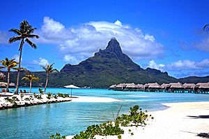 English: Another day in Bora Bora.