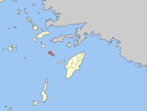 Locator map of Tilos municipality (Δήμος Τήλου...