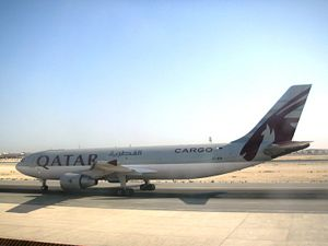 Qatar Airways at Doha International Airport.