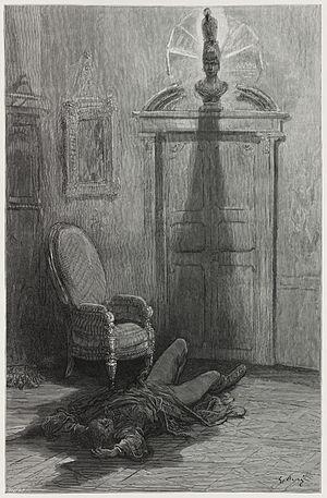 """Illustration for Edgar Allan Poe's """"The R..."""