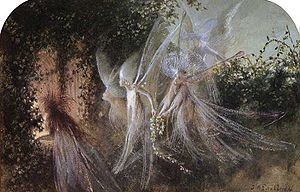 """Fairies Looking Through A Gothic Arch"""
