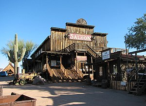 English: Goldfield Ghost Town saloon on Apache...