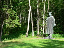 Grutas Park is home to a monument of Stalin, originally set up in Vilnius.