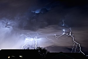 Taken from Henderson, Nevada, looking toward t...