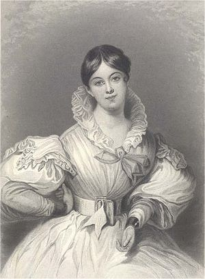 Letitia Elizabeth Landon (1802-1838) by Maclise