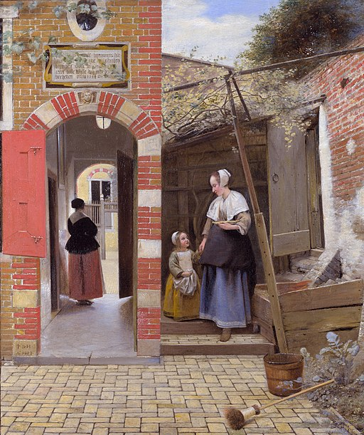"""""""The Courtyard of a House in Delft"""" by Pieter de Hooch"""