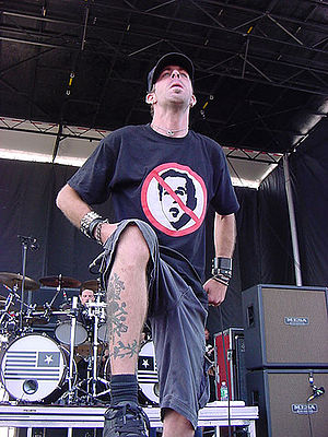 Randy Blythe of Lamb of God at Ozzfest, Jones ...