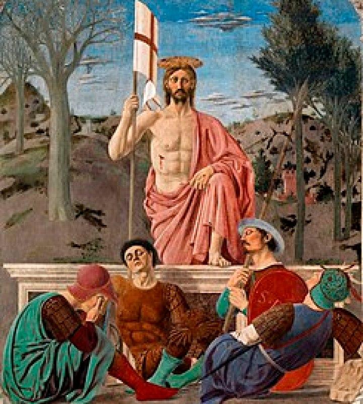 La Resurrección de Cristo, de Piero della Francesca (siglo XV).