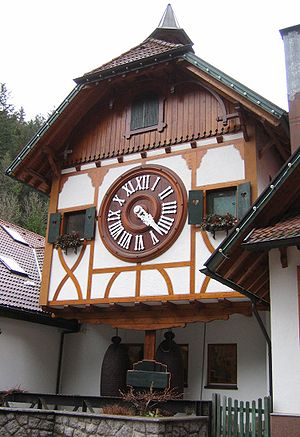 English: The world's largest cuckoo clock in T...