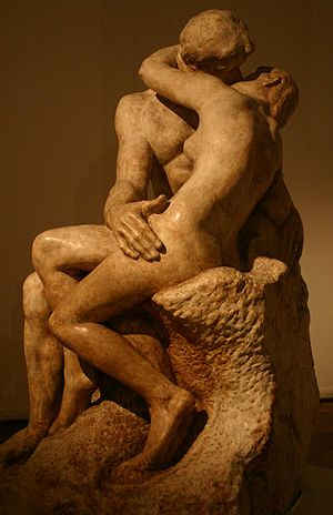 Auguste Rodin's The Kiss, at the National Muse...