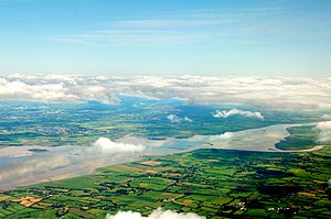 English: Shannon, County Clare, Ireland as the...